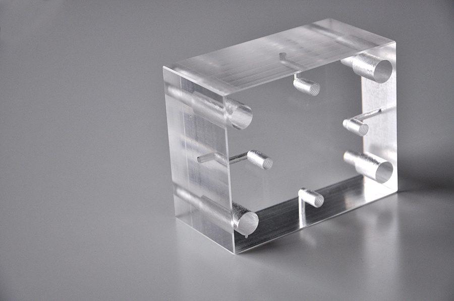 Isolant électrique en Plexi, épaisseur 50mm
