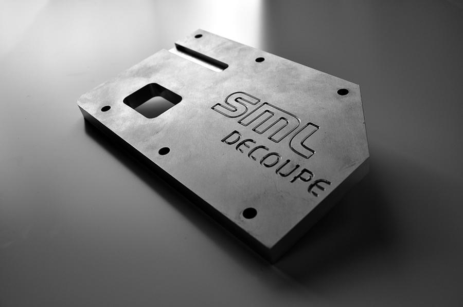 Usinage aluminium, pièce de démo, épaisseur 20mm