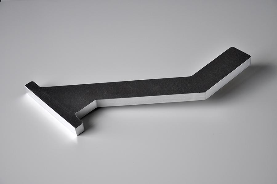 Usinage bras en aluminium, 500x200mm