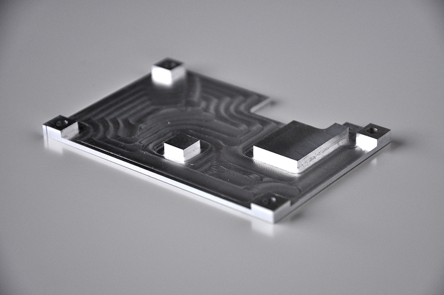 Usinage dissipateur aluminium, 90x50mm
