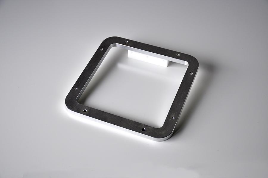 Usinage support et écran aluminium, épaisseur 500x500mm